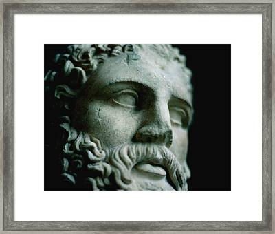 Statue Face Framed Print by Marcio Faustino