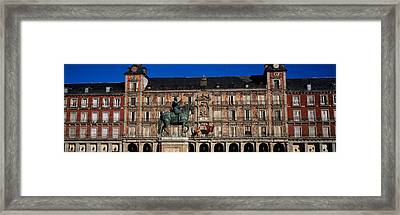 Statue In Front Of A Building, Plaza Framed Print by Panoramic Images