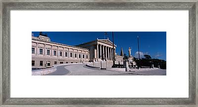 Statue In Front Of A Government Framed Print by Panoramic Images