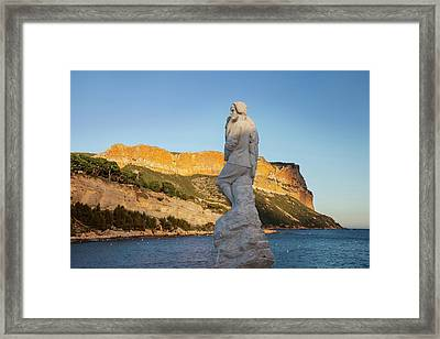 Statue Of Calendal, A Fictional Hero Framed Print by Brian Jannsen