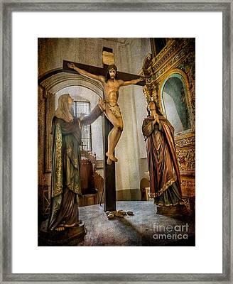 Statue Of Jesus Framed Print by Adrian Evans