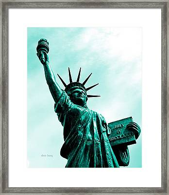 Statue Of Liberty   Framed Print by Chris Berry