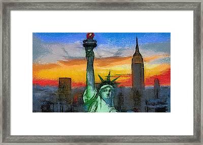 Statue Of Liberty Framed Print by Georgi Dimitrov