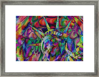 Statue Of Liberty Framed Print by Jack Zulli