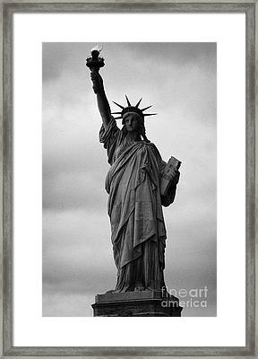 Statue Of Liberty National Monument Liberty Island New York City Nyc Usa Framed Print by Joe Fox