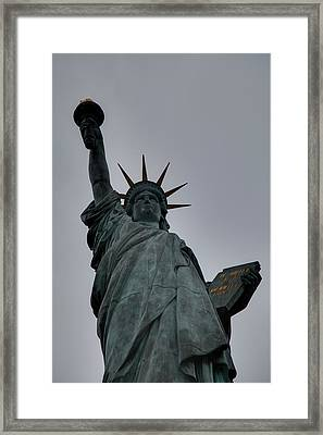 Statue Of Liberty - Paris France - 01132 Framed Print by DC Photographer