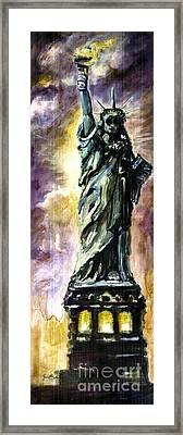 Statue Of Liberty Part 4 Framed Print by Ginette Callaway