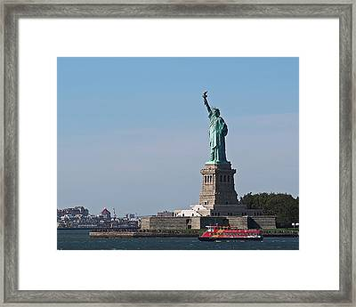 Statue Of Liberty Framed Print by Rona Black
