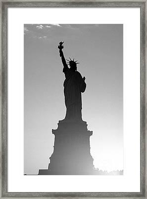 Statue Of Liberty Framed Print by Tony Cordoza