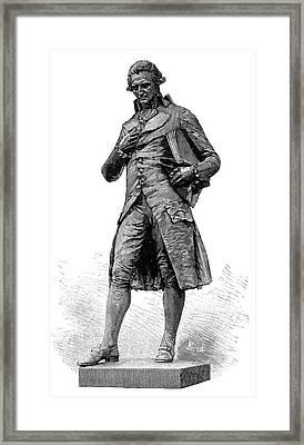 Statue Of Nicolas De Condorcet Framed Print by Science Photo Library