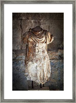 Statue Of Odyssey  Athens, Greece Framed Print by Reynold Mainse