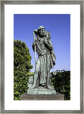 Statue Of The Good Sheperd. Framed Print by Fernando Barozza