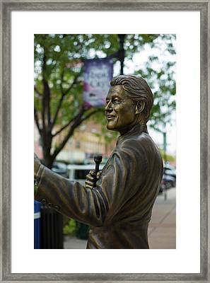Statue Of Us President Bill Clinton Framed Print by Panoramic Images