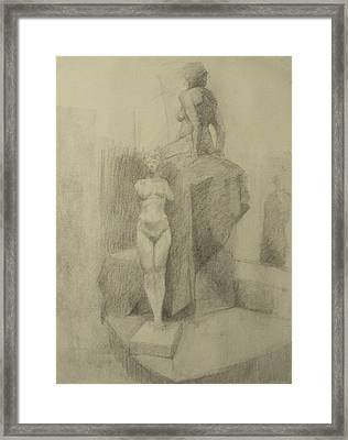 Statues Framed Print by Cynthia Harvey