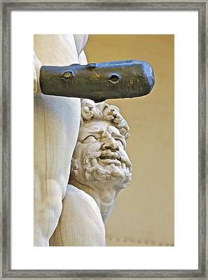 Statues Of Hercules And Cacus Framed Print by David Letts