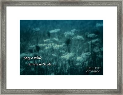 Stay A While Dream With Me  Framed Print by Cathy  Beharriell