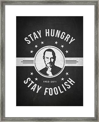 Stay Hungry Stay Foolish - Dark Framed Print by Aged Pixel