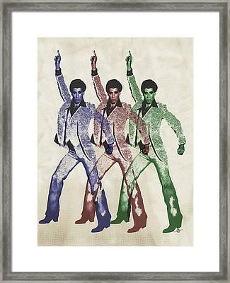 Stayin Alive Pop 5 Framed Print by Tony Rubino