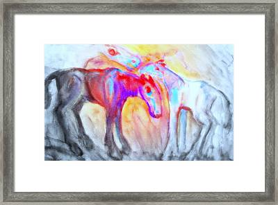 We Will Be Staying Alive Forever And Never Split Up Or Die  Framed Print by Hilde Widerberg