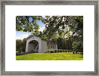 Stayton-jordan Covered Bridge Framed Print by Mark Kiver