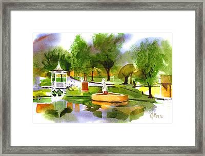 Ste Marie Du Lac In Watercolor IIb Framed Print by Kip DeVore