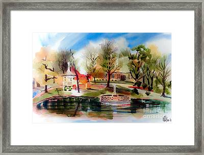 Ste. Marie Du Lac With Gazebo And Pond IIi Framed Print by Kip DeVore