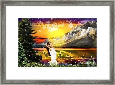 Steadfast Heart Framed Print by Dolores Develde