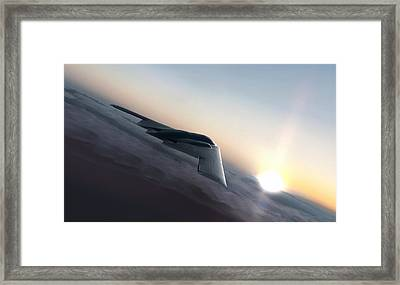 Stealth Sunset Framed Print by Peter Chilelli