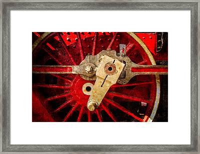 Steam And Iron - Driving Wheel Framed Print by Alexander Senin