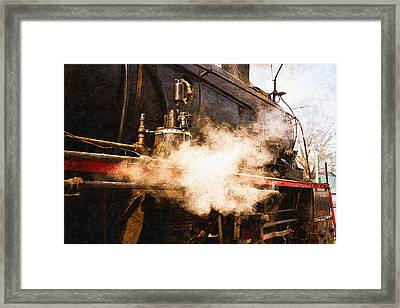 Steam And Iron - Ready For Departure Framed Print by Alexander Senin