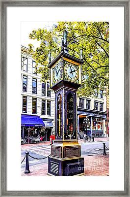 Steam Clock Framed Print by Jon Burch Photography