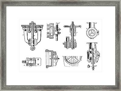 Steam Engine Components Framed Print by Science Photo Library