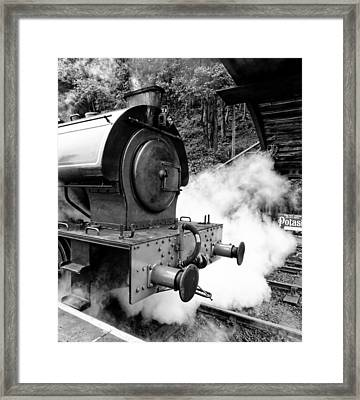 Steam Engine Repulse Lakeside And Haverthwait Railway Framed Print by Mike Marsden