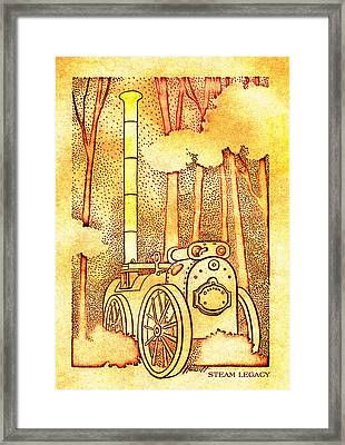 Steam Legacy Gold Framed Print by Patricia Howitt