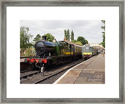 Steam Locomotive At Toddington Framed Print by Louise Heusinkveld