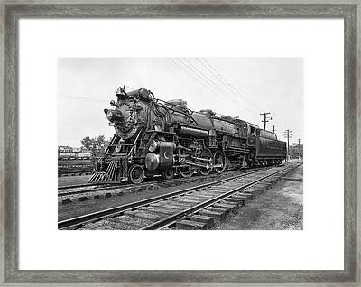 Steam Locomotive Crescent Limited C. 1927 Framed Print by Daniel Hagerman