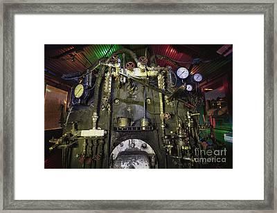 Steam Locomotive Engine Framed Print by Keith Kapple