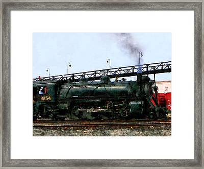 Steam Locomotive Framed Print by Susan Savad