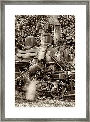 Steam Power Sepia Framed Print by Steve Harrington