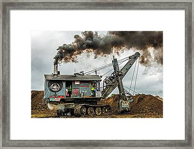 Steam Shovel Framed Print by Paul Freidlund