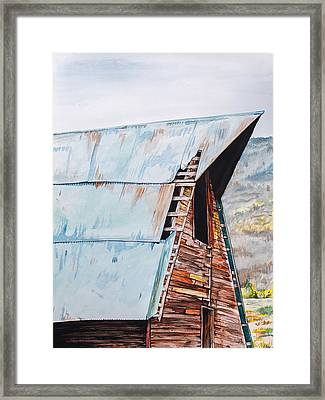 Steamboat Barn Framed Print by Aaron Spong