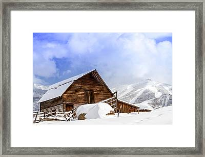 Steamboat Springs Barn And Ski Area Framed Print by Teri Virbickis