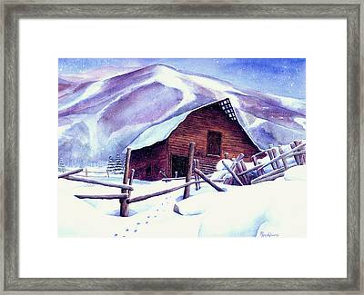 Steamboat Winter Framed Print by Mary Giacomini