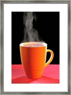 Steaming Hot Drink Framed Print by Mark Sykes