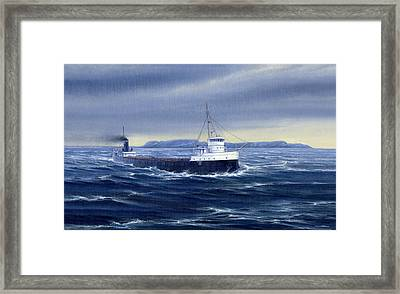 Steaming Past A Giant Framed Print by Captain Bud Robinson