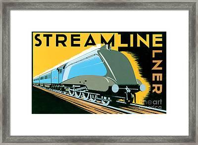 Steamline Train Framed Print by Brian James