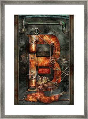 Steampunk - Alphabet - B Is For Belts Framed Print by Mike Savad