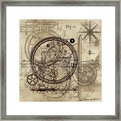 Steampunk Dream Series IIi Framed Print by James Christopher Hill