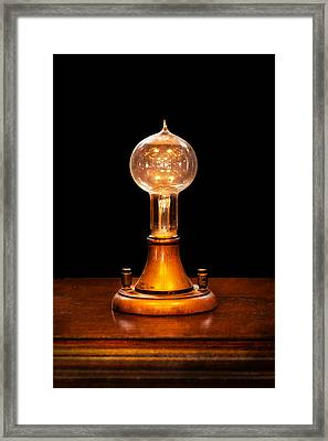 Steampunk - Electricity - Bright Ideas  Framed Print by Mike Savad