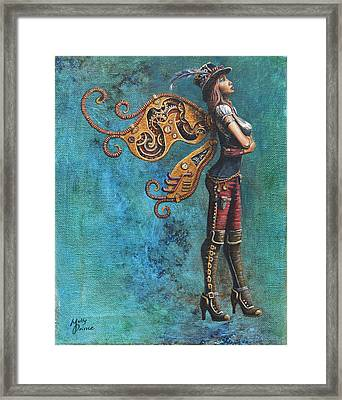 Steampunk Fairy Framed Print by Molly Prince
